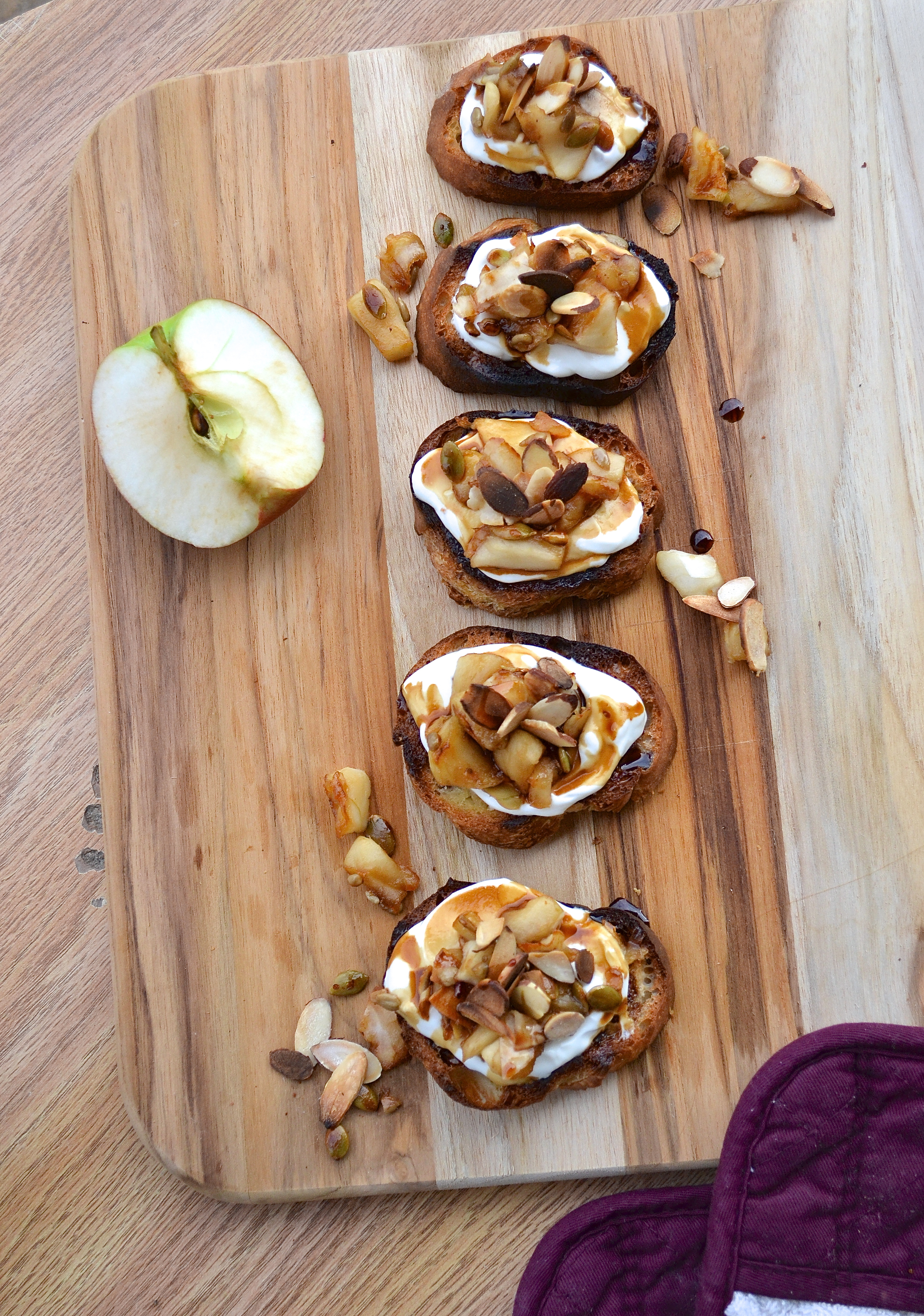 I b(rusch)etta come up with an apple-ing pun for this recipe